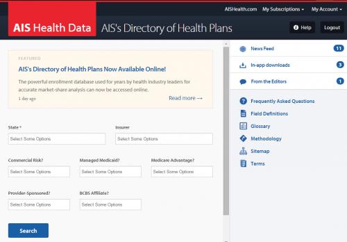 Ais S Directory Of Health Plans Ais Health Data